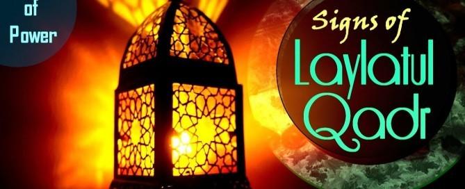 sign of laylatul qadar