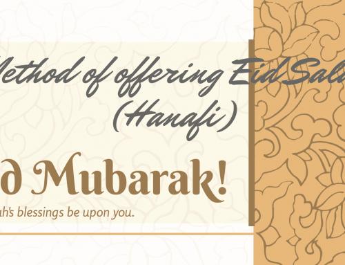 Method of offering Eid Salah (Hanafi)